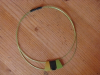 Halsketting Design - tri-color groen  (per ketting)